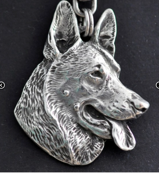 German Shepherd Silver Plated Key Chain
