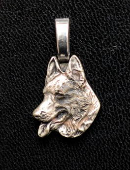 German Shepherd Small Silver Plated Mini Charm