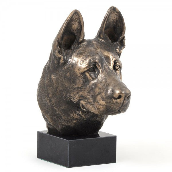 German Shepherd Statue on a Marble Base
