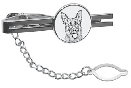 German Shepherd Silver Plated Tie Pin