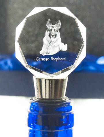 German Shepherd Crystal Wine Stopper