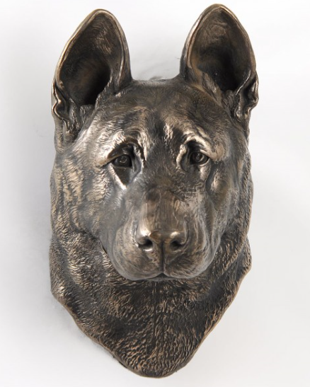 German Shepherd Wall Hung Statue