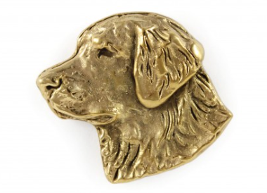 Golden Retriever hard Gold Plated Lapel Pin