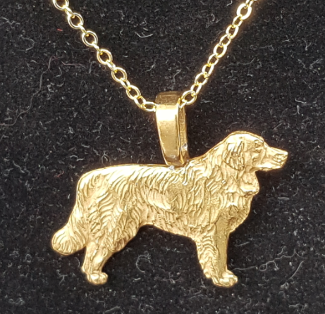 Golden Retriever Full Body Mini Gold Plated Pendant