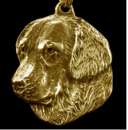 Golden Retriever Hard Gold Plated Key Chain