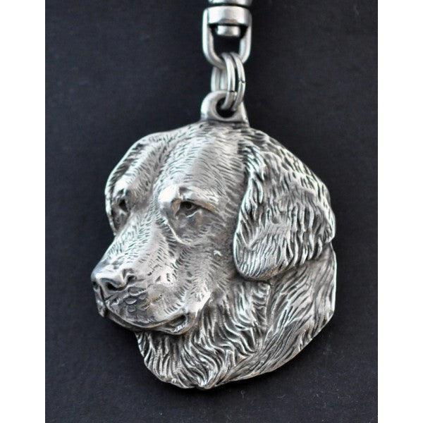 Golden Retriever  Silver Plated Key Chain