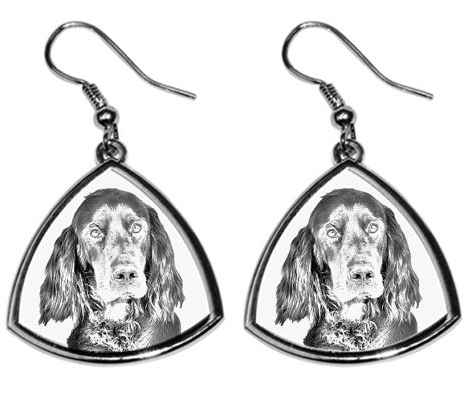Gordon Setter Silver Plated Earrings