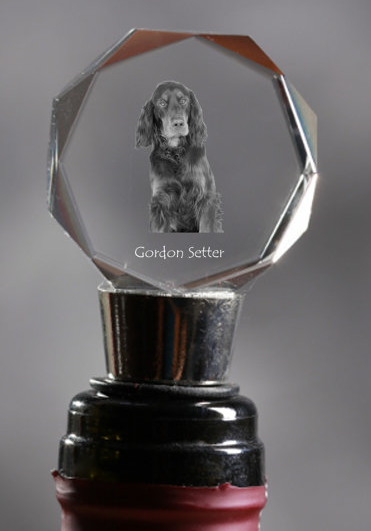 Gordon Setter Crystal Wine Stopper