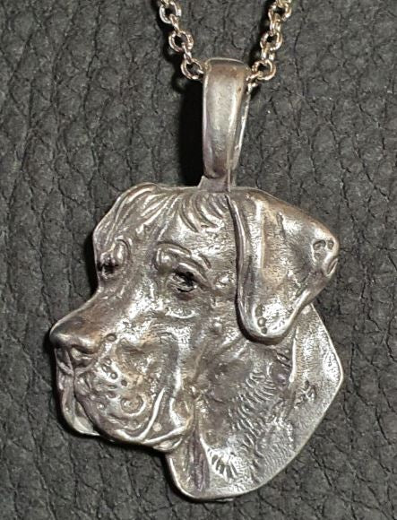 Great Dane Silver Plated Mini Charm Pendant