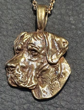 Great Dane Hard Gold Plated Mini Charm Pendant