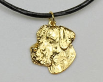 Great Dane Hard Gold Plated Necklace