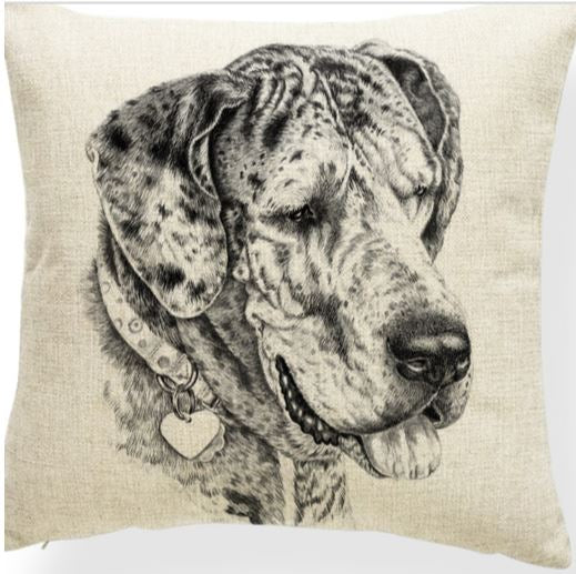 Great Dane Merle Cushion Cover