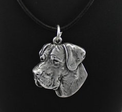 Great Dane Silver Plated Pendant