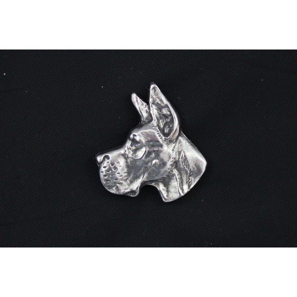 Great Dane Silver Plated Lapel Pin