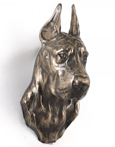 Great Dane Wall Hung Statue Cropped Ears