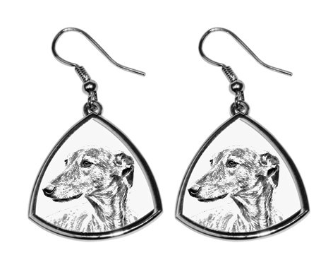 Greyhound Silver Plated Earrings