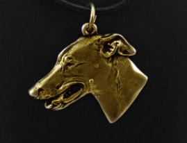 Greyhound Hard Gold  Plated Pendant