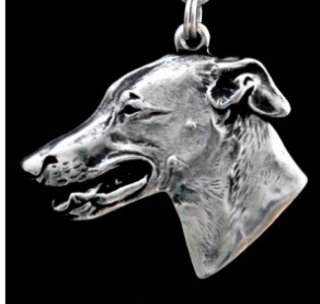 Greyhound Silver Plated Key Chain