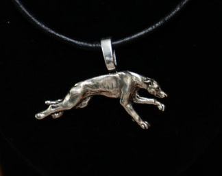 Greyhound Silver Plated Pendant