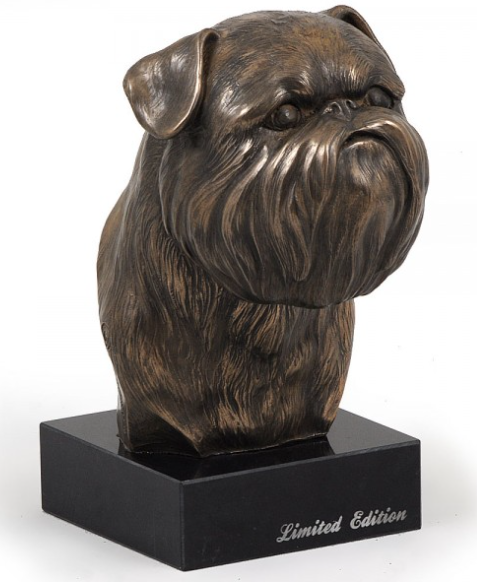 Brussels Griffon Statue on a Marble Base