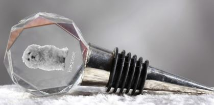 Havanese Crystal Wine Stopper
