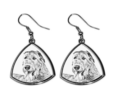 Irish Wolfhound Silver Plated Earrings