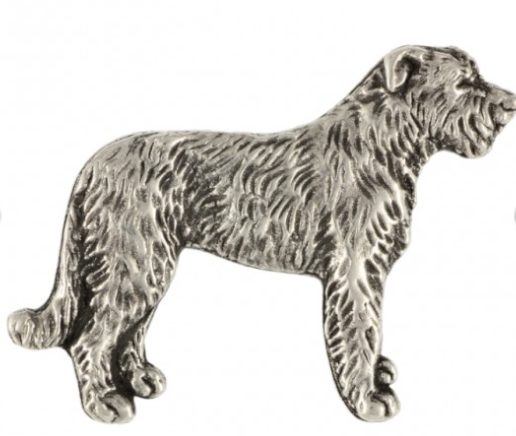 Irish Wolfhound Full Body Silver Plated Lapel Pin
