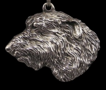 Irish Wolfhound Silver Plated Key Chain