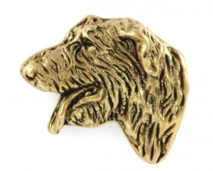Irish Wolfhound Hard Gold Plated Lapel Pin