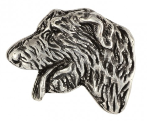 Irish Wolfhound Silver Plated Plated Lapel Pin