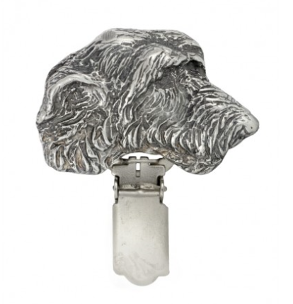 Irish Wolfhound Silver Plated Show Clip