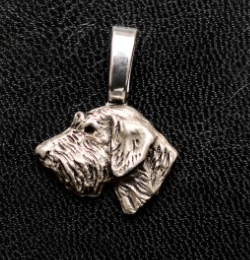 Irish Wolfhound Silver Plated Mini Charm