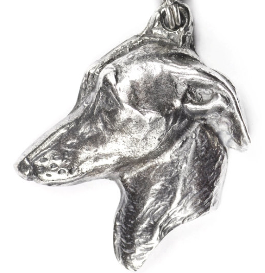Italian Greyhound Silver Plated Key Chain