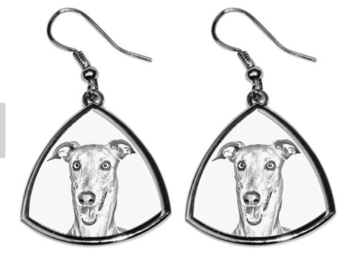 Italian Greyhound Silver Plated Earrings