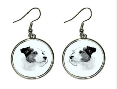 Jack Russell Silver Played Earrings