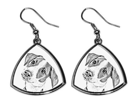 Jack Russell Silver Plated Earrings