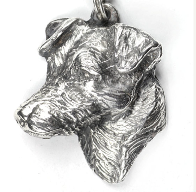 Jack Russell Terrier Silver Plated Key Chain