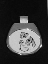 Jack Russell White Pendant