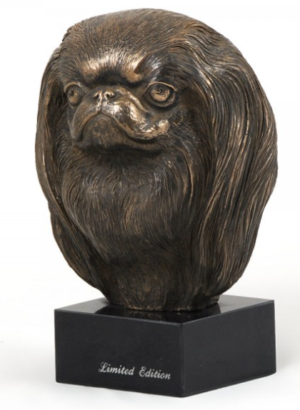 Japanese Chin Statue on a Marble Base