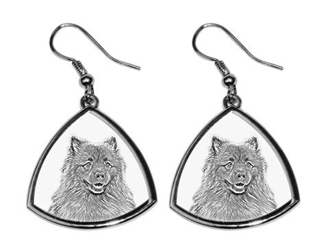 Keeshond Silver Plated Earrings