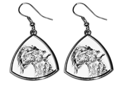 Kerry Blue Terrier Silver Plated Earrings