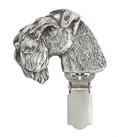 Kerry Blue Terrier Silver Plated Show Clip
