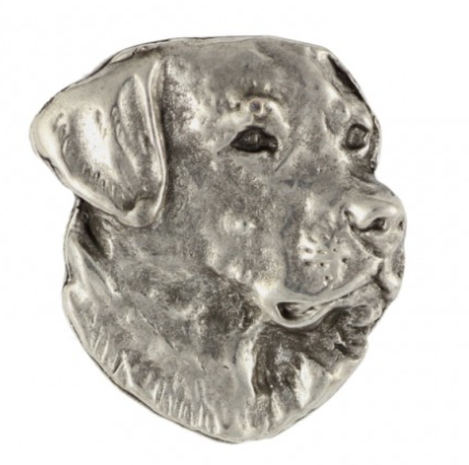 Labrador Silver Plated Lapel Pin