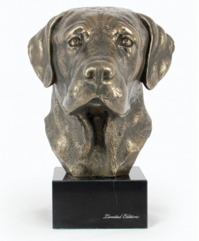 Labrador Retriever Statue on a Marble Base