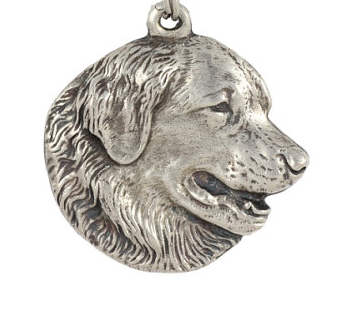 Leonberger Silver Plated Key Chain