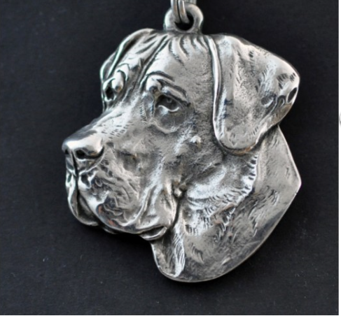 Great Dane Silver Plated Key Chain