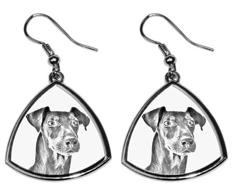 Manchester Terrier Silver Plated Earrings