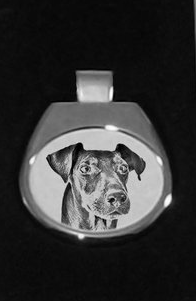 Manchester Terrier Silver Plated Pendant