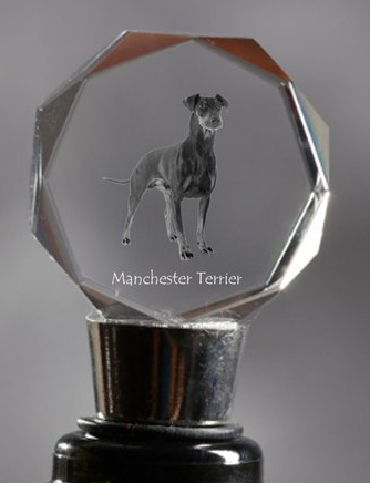 Manchester Terrier Crystal Wine Stopper