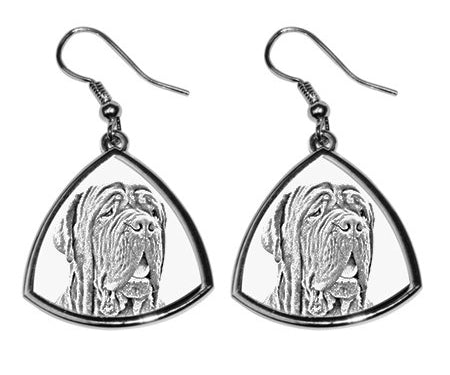 Neapolitan Mastiff Silver Plated Earrings